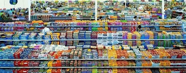 Hazır gıdalar paketlemiş yiyecekler halinde