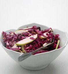 kırmızı lahana salatası yapımı